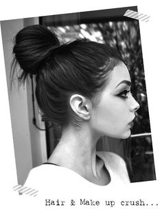 Cool bun. #bun #hair