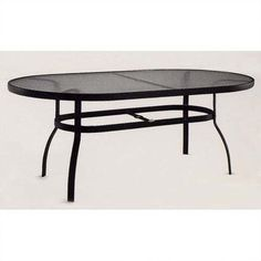 Woodard Deluxe Obscure Glass  Dining Table Finish: Black, Umbrella Hole?: Yes