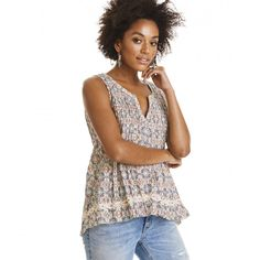 fin-tastic sleeveless blouse LIGHT MULTI
