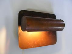 Vintage Danish Copper Outdoor Wall Lamp by Lyfa.