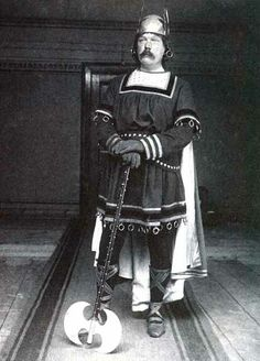 Dr. Conan Doyle wasn't as stuffy as Dr. Watson. He wore this outfit to a costume party in 1894