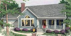 House Plan 40004 | Country Ranch Plan with 1927 Sq. Ft., 3 Bedrooms, 3 Bathrooms, 2 Car Garage at family home plans