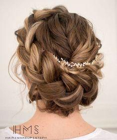Bridal Messy Crown Braid Updo
