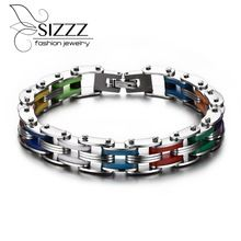 Get The Latest Fashion Jewelry  Silicone Stainless Steel Bracelet Men Bangle Rainbow Color 316L Stainless Steel Clasp Bracelet Fashion Bracelet For Men     Buy Jewelry At Wholesale Prices!     FREE Shipping Worldwide     Buy one here---> http://jewelry-steals.com/products/silicone-stainless-steel-bracelet-men-bangle-rainbow-color-316l-stainless-steel-clasp-bracelet-fashion-bracelet-for-men/    #silverjewelry