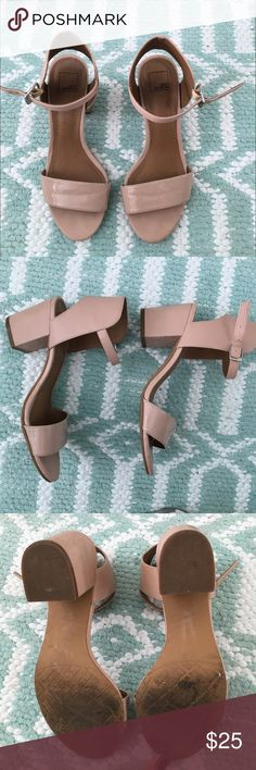 Pastel pink heeled sandals Super cute sandals!!  They have some wear on them but not to much, they're in good condition.   Send me an offer or bundle to save 💗🤗 14th & Union Shoes Sandals