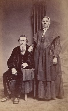 Christian and Mary Shouk, Albumen Carte de Visite, Circa 1867