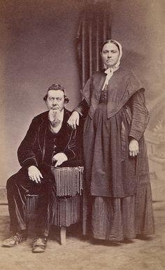 Christian and Mary Shouk, Albumen Carte de Visite, Circa 1867