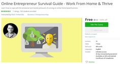 Coupon Udemy - Online Entrepreneur Survival Guide - Work From Home & Thrive [100% Off] - Course Discounts & Free