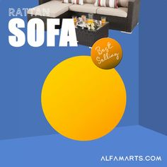 Wicker Patio Furniture, Rattan Sofa, Furniture Sets, Outdoor Sectional, Sectional Sofa, Beige Cushions, Sofa Set, Modular Couch, Corner Sofa