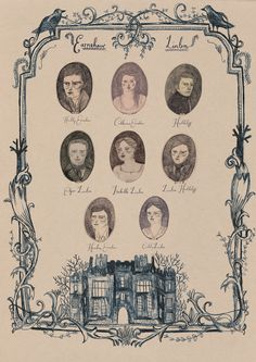 My fave book of all time, Wuthering Heights- illustration of the Linton/Earnshaw Family Tree - Lizzy Stewart