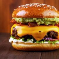Guacamole Beef Burger Melted Cheese Bacon Stock Photo (Edit Now) 319448369 Best Beef Burger Recipe, Burger Recipes, Copycat Recipes, Beef Recipes, Guacamole Burger, Red Robin Burgers, Big Burgers, Bagels, Hamburgers Gastronomiques