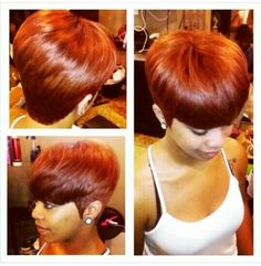 Lover this color...would like to try in highlights Quick Weave 27 Piece, Short Quick Weave Styles, Short Styles, Short Weave, Long Hair Styles, Pixie Styles, Short 27 Piece Hairstyles, Short Quick Weave Hairstyles, Nice Hairstyles