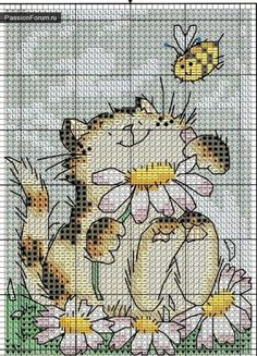 Mais uma vez, os gatos ... / Cross Stitch / diagramas PassionForum - masterclasses em bordado