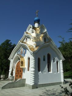 Church in Sochi. Sochi had some interesting churches and cathedrals to visit. Several small and humble places of worship where found here outside the city.