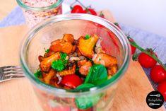 Gesunde Mittagspause: Spinatsalat mit Pfifferlingen