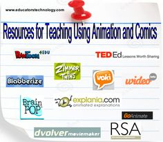40+ Resources for Teaching Using Animation and Comics ~ Educational Technology and Mobile Learning
