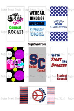 INSTANT DOWNLOAD Student Council  Digital by sugarnspicebow