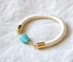 {Turquoise Stone Bracelet} summery!