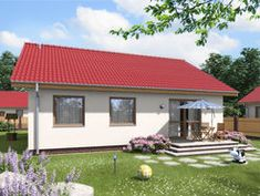 DOM.PL™ - Projekt domu ARD Rumianek 1 paliwo stałe CE - DOM RD1-70 - gotowy koszt budowy Shed, Outdoor Structures, Outdoor Decor, Home Decor, Dinner, Projects, Decoration Home, Room Decor, Home Interior Design
