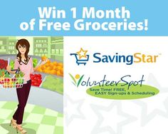 Win One Month Of Free Groceries From SavingStar And VolunteerSpot