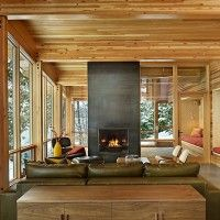 it's really too hot today to think about being fireside in a #cabin in the snow, but who cares?!