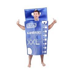 Serás el más demandado en una noche de desenfreno con este disfraz de caja de condones.