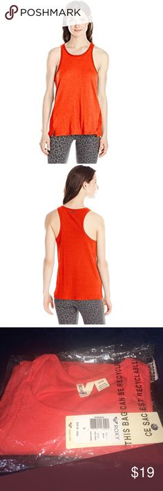 🆕Roxy Junior's Rockaway Basic Muscle Tank Top, PRODUCT FEATURES  ROXY™ Ladies Rockaway Tank - Day-to-day basic cotton polyester tank styled with a high neckline and ribbed side panels.  60% Cotton, 40% Polyester,  Swing fit knit tank,  High neckline,  Rib side panels, Roxy Tops Tank Tops