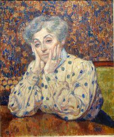 Théo van Rysselberghe - Madame Théo van Rysselberghe (dans une blouse à pois), 1907