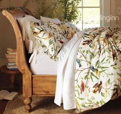 MeMoreCool Home Textile American Country Style 100 Cotton Reactive Printing Highgrade 4 Pieces Bedding Set Lively Spring Birds Design Quilt Covers Soft Bed Sheets Queen Size ** Find out more about the great product at the image link. Pottery Barn Bedrooms, Soft Bed Sheets, Rustic Bedding, Country Bedding, Sleigh Beds, Cotton Duvet, Home Textile, Luxury Bedding, Duvet Cover Sets