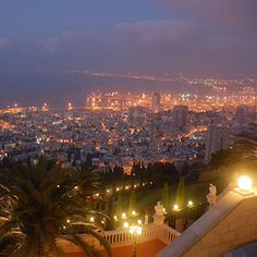 Haifa, Israel it's  very beautiful at night. Yeah this view like drug to me hh