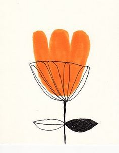 orange flower - jane reiseger