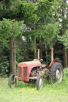 We had an old, immobile tractor to play with once we were big enough to climb.