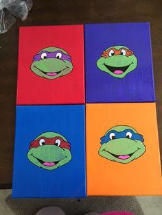 Set of (4) TMNT Canvas Art