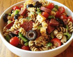 Italian Pasta Salad! Using Tastefully Simple products! http://www.tastefullysimple.com/web/avura