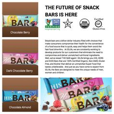 IDLife has raised the Bar!!! Check out the new certified organic, non gmo, kosher, gluten free snack bars for HIM, HER and KIDS http://young.idlife.com/snack_bars/index.html
