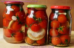 Mama i Pomocnicy: Pomidorki koktajlowe w zalewie octowej Polish Recipes, Polish Food, Beets, Preserves, Mason Jars, Food And Drink, Healthy Eating, Tasty, Stuffed Peppers