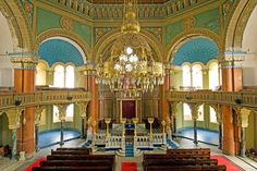Sofia Synagogue, Sofia, Bulgaria, was built in 1909, heavily damaged during bombings in 1944, and restored with funding from the World Monuments Fund.