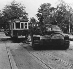 StuG III's and a StuH 42 (visible behind the tram) of Sturmgeschütz-Brigade 280 heading for Oosterbeek, just west of Arnhem, Netherlands on 19 September There, after heavy fighting, the British troops were driven back into a small defensive. Italy In November, September, Battle Of Normandy, Operation Market Garden, German Police, Tank Destroyer, Ww2 Tanks, World Of Tanks, Holland