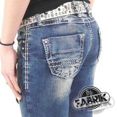 Cipo & Baxx Damen Jeans CBW 0639 mit Stretch Slim Fit...