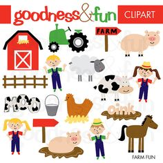 farm animal free printables farm animals digital clip art clipart rh pinterest com vintage farm clip art free farm animal clip art free