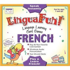 CD and Card Games) (Spanish Edition) French Numbers, Learning Cards, Kids Up, Spanish Language Learning, French Words, Learn French, Deck Of Cards, France, Games For Kids