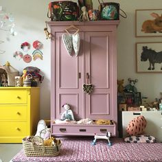When we think about decorating and adding colour to our homes, we tend to focus on the walls, leaving the interior trim and furniture as an… Kids Bedroom Furniture, Bedroom Decor, Kids Wardrobe, Interior Trim, Little Girl Rooms, Bedroom Styles, Kids Decor, Cheap Home Decor, Girls Bedroom