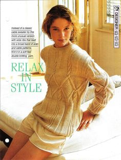 Knitting pattern Woman's Relax in Style by MyPatternsCollection
