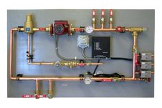Mechanical Boards and other great infloor heating, zoned heating / cooling systems and HVAC peripherals from Comfort Products, Inc. Underfloor Heating Systems, Hydronic Heating, Cool Garages, Radiant Heat, Heating And Cooling, Home Repair, Plumbing, House Design
