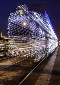 Long Exposure Photos of Budapest Trams Lit Up with LED Lightsby Johnny Strategy on June 2014 Nature Images, Nature Pictures, Long Exposure Photos, Light Art Installation, Colossal Art, Late Nights, Budapest, Street Photography, Cool Photos