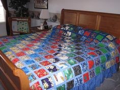 Quilt made from Hawaiian fabric