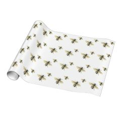 Vintage Honey Bee Design Wrapping Paper