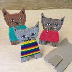 Cardboard Kittens - Art Projects for Kids #artprojects