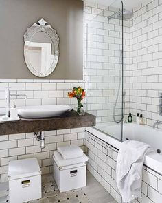 Grey with subway tile <3