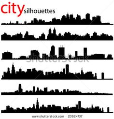 stock vector : city silhouettes